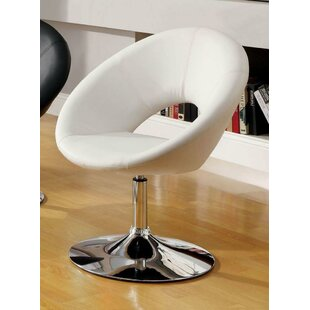 Orren Ellis Djerf Leatherette Upholstered Swivel Club Chair