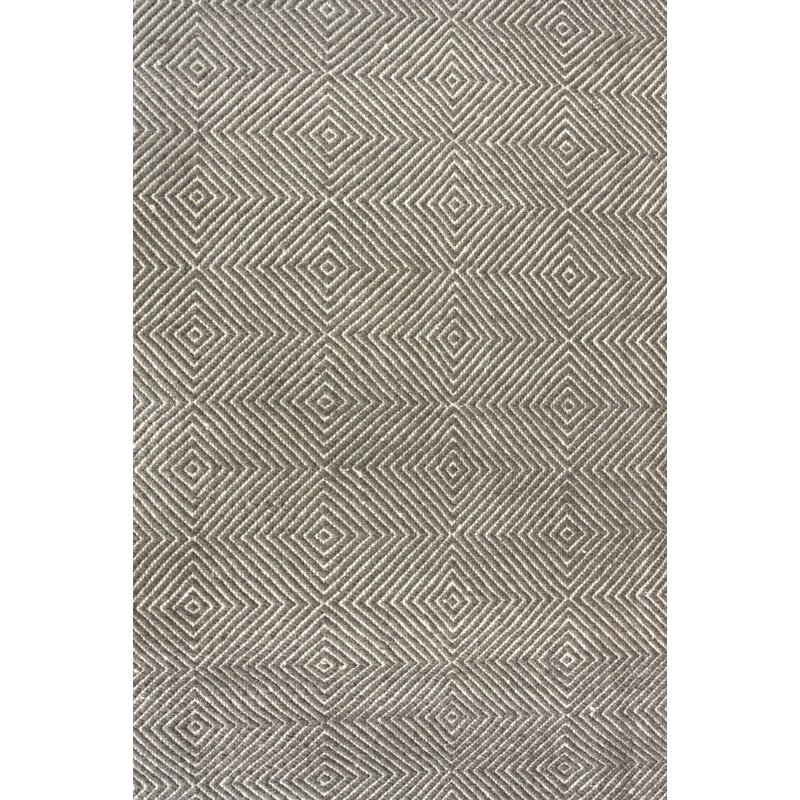 Mercury Row Marcelo Flat Woven Cotton Gray Area Rug