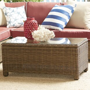 Read Reviews Lawson Wicker Rectangular Coffee Table By Birch Lane™
