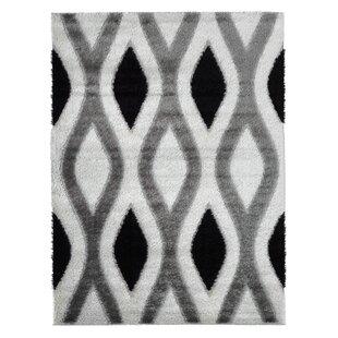Compare & Buy Severine Shaggy 3D Trellis White/Gray Area Rug ByOrren Ellis