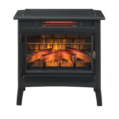 3D Flame Effect Infrared Quartz Electric Stove Duraflame Electric Finish: Black