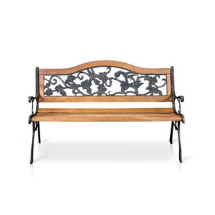 Hillary Wooden And Cast Iron Bench By Blue Elephant
