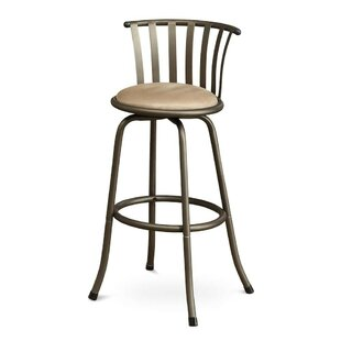 Winston Porter Pavone Adjustable Height Swivel Bar Stool (Set of 2)