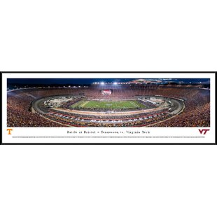 NCAA Battle at Bristol TN vs Vtech Football Framed Photographic Print By Blakeway Worldwide Panoramas, Inc