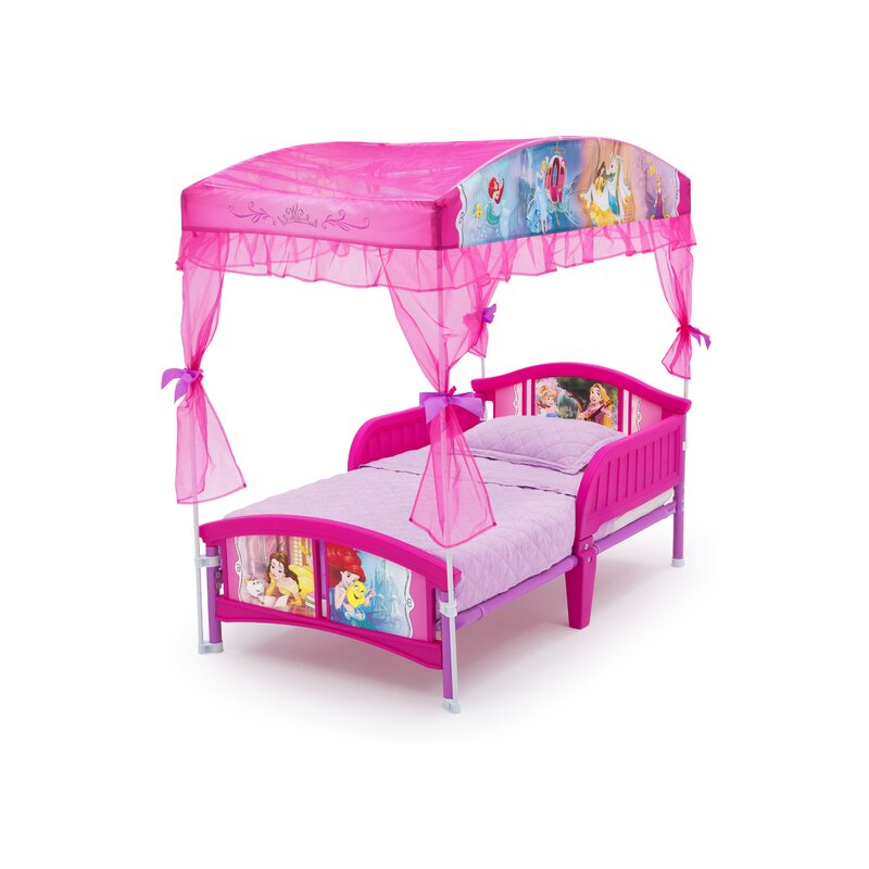 Delta Children Disney Princess Toddler Canopy Bed ...