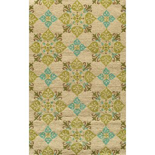 Bromville Beige/Green Indoor/Outdoor Area Rug