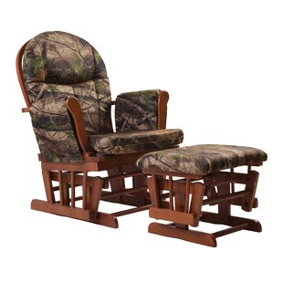 Home Deluxe Camouflage Glider and Ottoman by Artiva USA