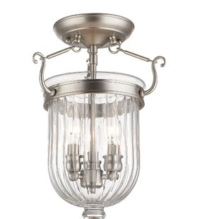 Lindley 3-Light Semi Flush Mount by Darby Home Co