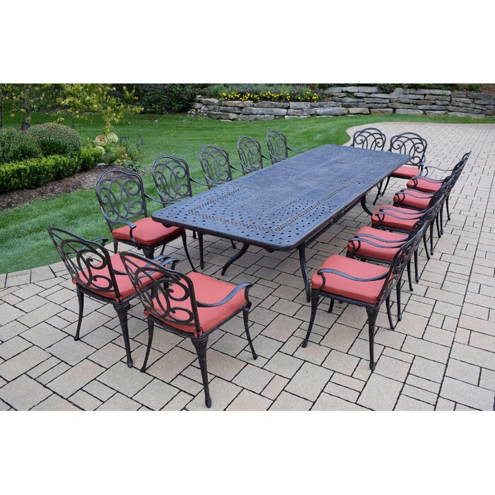 Oakland Living Berkley 15 Piece Dining Set With Cushions Reviews