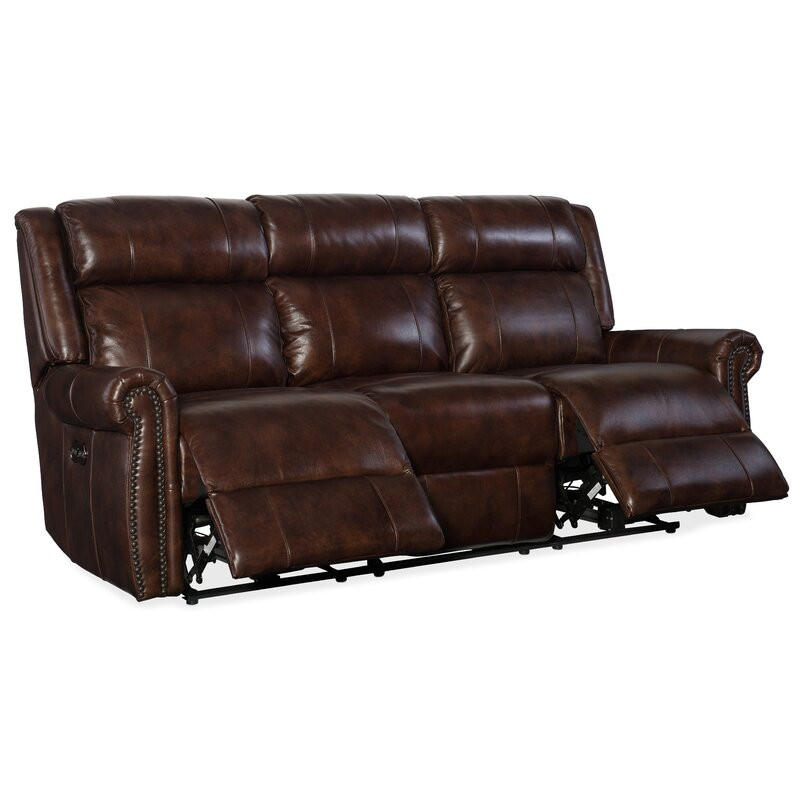 Esme Genuine Leather Reclining Sofa