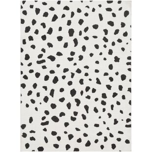 Shop Elissa Boho Squares Black/White Area Rug By Ebern Designs