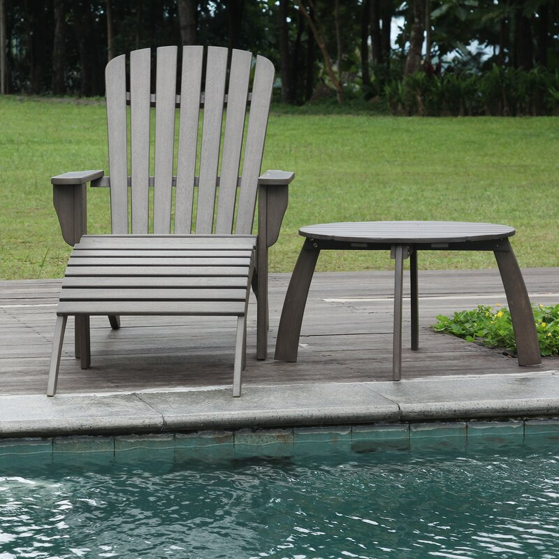 Fine Windell Solid Wood Adirondack Chair With Ottoman Gmtry Best Dining Table And Chair Ideas Images Gmtryco