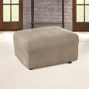 Ultimate Heavyweight Stretch Leather Box Cushion Ottoman Slipcover