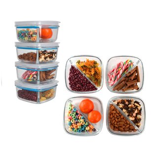 Angelica Meal Prep 30 Oz. Food Storage Container (Set of 4)