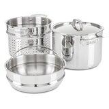 Viking 3-Ply 8 Quart Multi-Cooker/Pasta Pot with Steamer