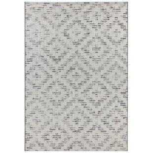Creil Flatweave Light Grey/Black Indoor/Outdoor Rug by Elle Decor