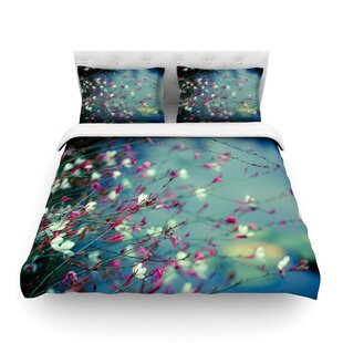 Monet's Dream by Ann Barnes Dark Flower Featherweight Duvet Cover