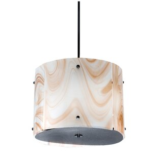 Meyda Tiffany Cognac Swirl 4-Light Pendant