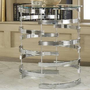 Paramount Round Glass Top Console Table