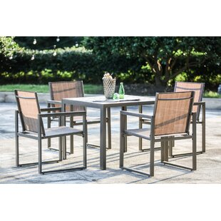 Outdoor metal table set