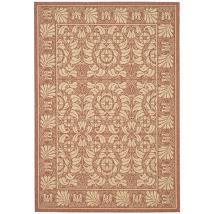 Shani Rust/Sand Indoor/Outdoor Area Rug