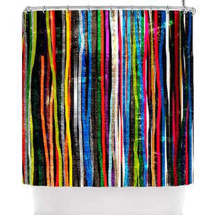 Frederic Levy-Hadida Fancy Stripes Dark Single Shower Curtain