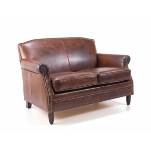 Adlington Genuine Leather 2 Seater Loveseat Sofa