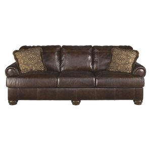 Darby Home Co Bannister Leather Sofa Image