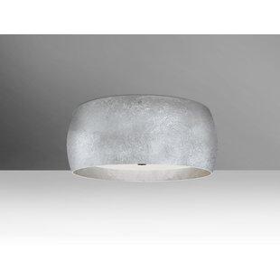 Affordable Price Speidel 3-Light Outdoor LED Flush Mount By Brayden Studio