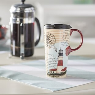 Merveilleux Warren Northeast Lighthouse 17 Oz. Ceramic Travel Cup
