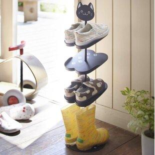 Yamazaki Home Kid's 4-Tier 3 Pair Shoe Rack