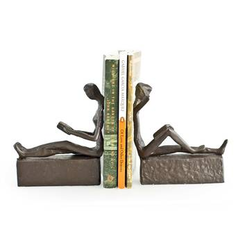 Orren Ellis Seated Lady Polyresin Bookends Reviews Wayfair