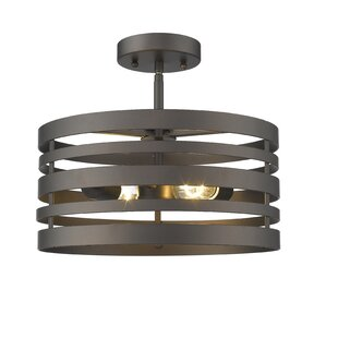 Hammock Farmhouse Ceiling 2-Light Semi-Flush Mount by Wrought Studio
