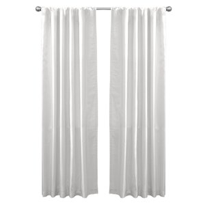 Venetian Solid Semi-Sheer Rod Pocket Single Curtain Panel