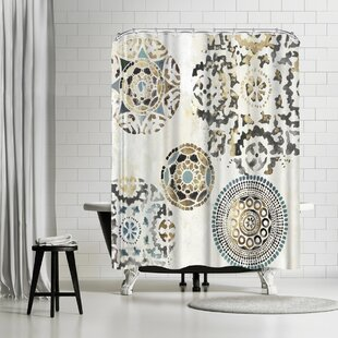 PI Creative Art Rounded Ii Single Shower Curtain by East Urban Home Spacial Price