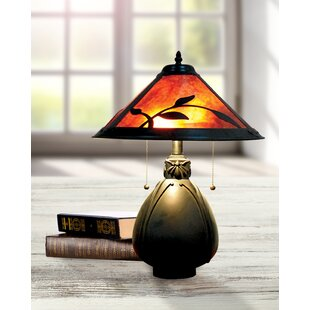 Aticus Fall Leaves Mica 19 Table Lamp