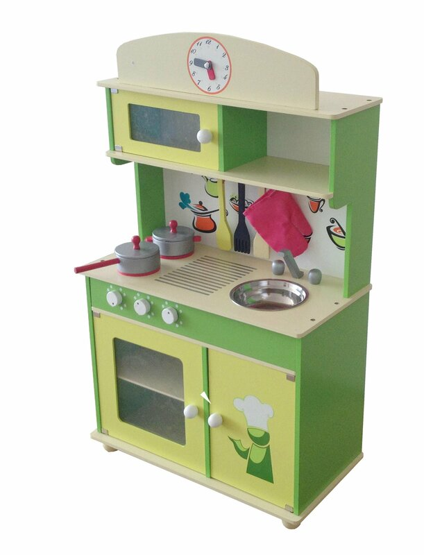years kitchen blue retro kidkraft deluxe pastel of culinary wooden play in photo and refrigerator
