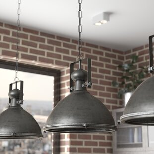 Emiliano Metal Warehouse Inverted Pendant by 17 Stories