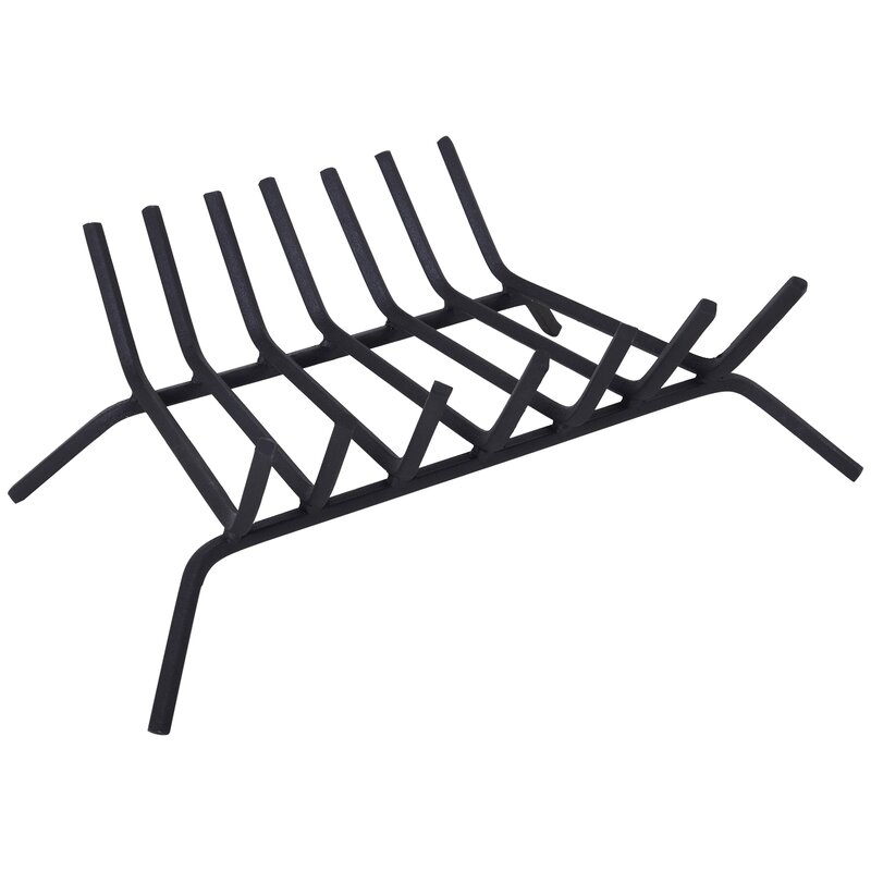 Outsunny Steel Fireplace Grate Wayfair