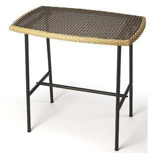 Machado Rattan and Iron Pub Table by Bayou Breeze