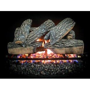 Blazing Oak Natural Ventral Log Set By Dreffco