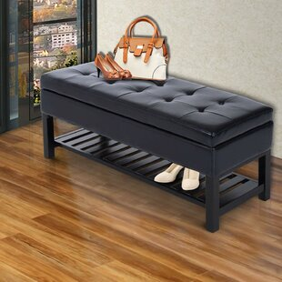 Vanwagoner Tufted Upholstered Storage Bench by Winston Porter