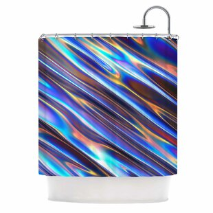 Danny Ivan Iridescent Illustration Single Shower Curtain