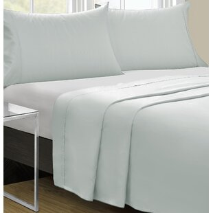 Rosecliff Heights Cowden 4 Piece Solid 350 Thread Count 100% Cotton Sheet Set