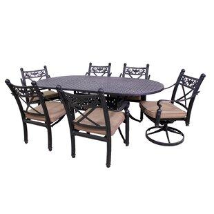California Outdoor Designs Baldwin 7 Piece Oval Dining Set