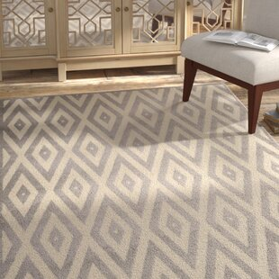 Burnie White/Gray Indoor Area Rug by Bungalow Rose
