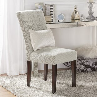 Hurst Chevron Print Parson Chair (Set of 2) Willa Arlo Interiors
