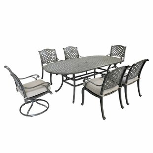 Razo 9 Piece Sunbrella Dining Set with Cushions by Canora Grey