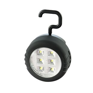 Pinney Black Battery Powered LED Outdoor Utility Light By Sol 72 Outdoor