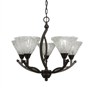 Fleur De Lis Living Blankenship 5-Light Shaded Chandelier